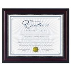 Dax Prestige Document Frame, Rosewood/Black, Gold Accents, Certificate, 8 1/2 x 11