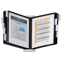 Durable InstaView Expandable Desktop Reference System, 10 Panels, Black Borders
