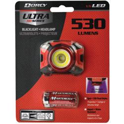 Life+Gear® Headlamp, 530 Lumen, 1-4/5 inWx2-3/10 inLx1-3/5 inH, Black/Red