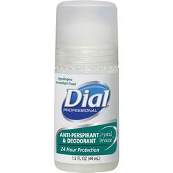 Dial Anti-Perspirant Deodorant, Crystal Breeze, 1.5oz, Roll-On, 48/Carton