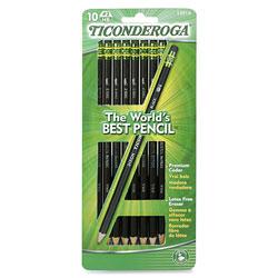 Dixon Ticonderoga No. 2 Pencil, Soft, 10/CD, Black