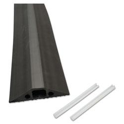 D-Line® Medium-Duty Floor Cable Cover, 2.75 x 0.5 x 6 ft, Black