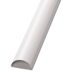 D-Line® Decorative Desk Cord Cover, 60 in x 2 in x 1 in Cover, White