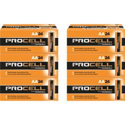 Duracell Procell Alkaline Batteries, AA, 144/CT