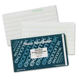 Ekonomik Systems Wirebound Form RL17 Check Register with Income, Expense Dist. Columns, 8 3/4x14 3/4