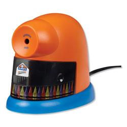 Elmer's CrayonPro Electric Sharpener, School Version, AC-Powered, 5.63 in x 8.75 in x 7.13 in, Orange/Blue