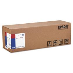 Epson Cold Press Bright Fine Art Paper Roll, 19 mil, 17 in x 50 ft, Textured Matte White