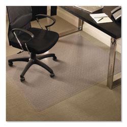 E.S. Robbins EverLife Chair Mats for Medium Pile Carpet, Rectangular, 46 x 60, Clear