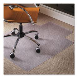 E.S. Robbins Natural Origins Chair Mat with Lip For Carpet, 45 x 53, Clear
