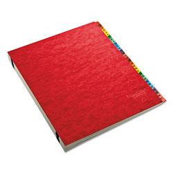 Pendaflex Expanding Desk File, A-Z, Letter, Acrylic-Coated Pressboard, Red