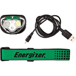 Energizer Headlamp, LED, Rechargeable, 400 Lumens, 80m, Black
