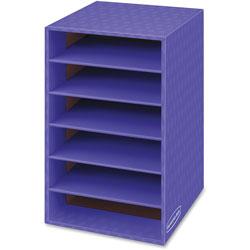 Fellowes Vertical Classroom Organizer, 6 shelves, 11 7/8 x 13 1/4 x 18, Purple
