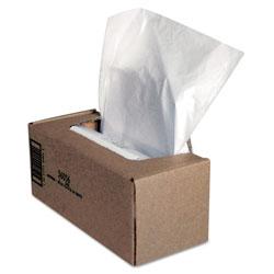 Fellowes Shredder Waste Bags, 25 gal Capacity, 50/Carton