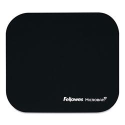 Fellowes Mouse Pad w/Microban, Nonskid Base, 9 x 8, Black