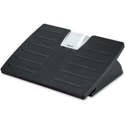 Fellowes Adjustable 3-Height Footrest,Tilt Lock,17-1/2w x 13-1/8d x 4-3/8h, Black/Silver