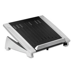 Fellowes Office Suites Laptop Riser Plus, 15 1/16 x 10 1/2 x 6 1/2, Black/Silver