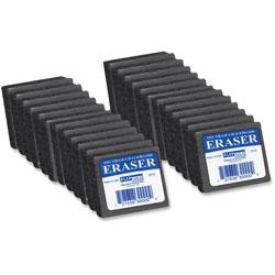 Flipside Felt Erasers, 2 in x 2 in1 in, 24/PK, Gray