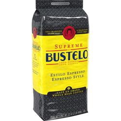 Folgers Whole Bean Coffee, Cafe Bustelo Supreme, Dark, 32 oz.