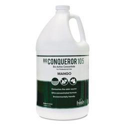 Fresh Products Bio Conqueror 105 Enzymatic Odor Counteractant Concentrate, Mango, 1 gal, 4/Carton