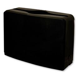 GEN Countertop Folded Towel Dispenser, 10.63 in x 7.28 in x 4.53 in, Black