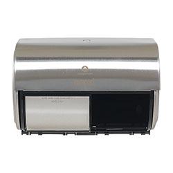 Compact® Horizontal 2-Roll Tissue Dispenser, Stnlss Steel, 10 1/8 x 6 3/4 x 7 1/8