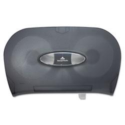 GP Two-Roll Bathroom Tissue Dispenser, 13 9/16 x 5 3/4 x 8 5/8, Smoke