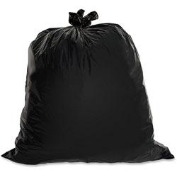 Genuine Joe Black Trash Bags, 45 Gallon, 1.5 Mil, Box of 50