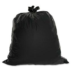 Genuine Joe Black Trash Bags, 60 Gallon, 1.5 Mil, Box of 50