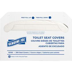 Genuine Joe White Toilet Seat Covers, Biodegradable/Flushable