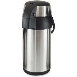 Genuine Joe Vacuum Pump Pot, 3.0L, Stainless Steel