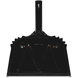 Genuine Joe Heavy-Duty Metal Dustpan, 12 in, Black