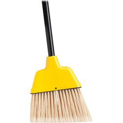 Genuine Joe Angle Broom, High Performance Bristles, 9 in W, Yellow