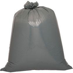 Genuine Joe Black Flat-Bottom Trash Bags, 55 Gallon, 39 in X 56 in, Case of 50