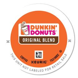 Dunkin' Donuts K-Cup Pods, Original Blend, 24/Box