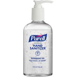 Purell Advanced Hand Refreshing Gel, 8 oz Pump Bottle, 12/Carton