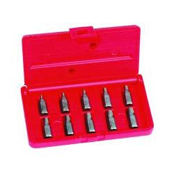 Hanson 10-Piece Screw Extractor Set, 1/8 in to 13/32 in