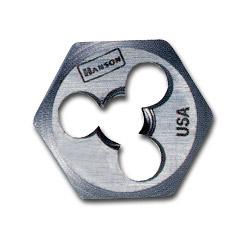 Hanson High-Carbon Steel Fractional Hexagon Die, 12 in-13, 1 in Diameter