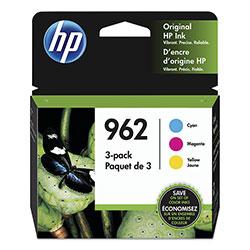 HP 962, (3YP00AN) 3-pack Cyan/Magenta/Yellow Original Ink Cartridge