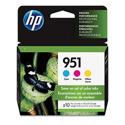 HP 951, (CR314FN) 3-pack Cyan/Magenta/Yellow Original Ink Cartridges