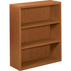 Hon 11500 Series Valido Three Shelf Bookcase, Bourbon Cherry, 36wx13 1/8dx43 5/8h