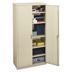 Hon Assembled Storage Cabinet, 36w x 18 1/8d x 71 3/4h, Putty