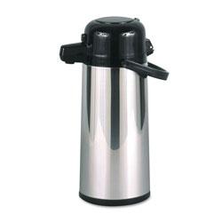 Hormel Commercial Grade 2.2L Airpot, w/Push-Button Pump, Stainless Steel/Black