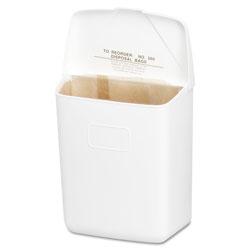 Hospeco Wall Mount Sanitary Napkin Receptacle-ABS, PPC Plastic, 1gal, White
