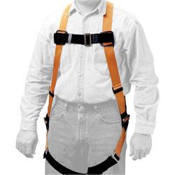 Honeywell Full-Body Harness, 310 lb. Cap., Black/Yellow