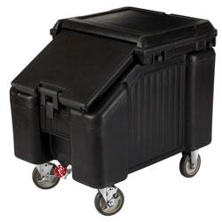 Cambro Ice Caddy 100 Pound Capacity 2 Front Swivel 2 Rear Fixed Black