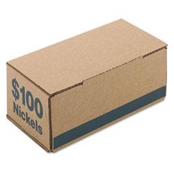 Iconex Corrugated Cardboard Coin Storage w/Denomination Printed On Side, Blue