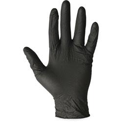 Impact ProGuard Disposable Nitrile Gloves, Powder-Free, Black, X-Large, 100/Box