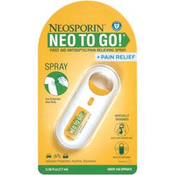 Johnson & Johnson Neosporin To Go Spray, First Aid Antiseptic