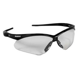 KleenGuard* Nemesis Safety Glasses, Black Frame, Clear Lens