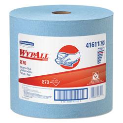 WypAll* X70 Cloths, Jumbo Roll, 12 1/2 x 13 2/5, Blue, 870/Roll
